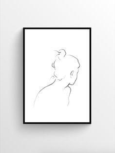 Trending: Minimal, Modernist-Inspired Line Drawings and Sketches - Kunst Zentangle, Wall Art Prints, Poster Prints, Art Puns, Arts And Crafts House, Face Sketch, Black And White Wall Art, Unique Wall Art, Art Mural