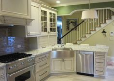 Marvelous apron front sink in Kitchen Traditional with Load Bearing Wall next to Corner Sink alongside Apron Sink and Kitchen Sink