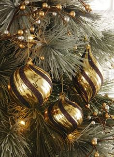 Golden Ornaments on the tree