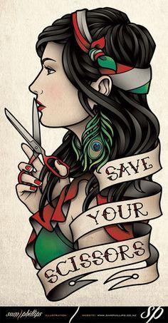 Save Your Scissors Tattoo by Sam-Phillips-NZ.deviantart.com on @deviantART