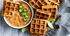 18 Savory Waffle Recipes So You Can Get Your Fix For Breakfast, Lunch, and Dinner - http://food.moodious.com/18-savory-waffle-recipes-so-you-can-get-your-fix-for-breakfast-lunch-and-dinner/