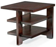 Photo of Seattle Three-Shelf Rectangular Wood End Table - Bernhardt Furniture  ( Tables, Accent Tables)