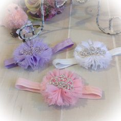 Baby Girl Headband Baby Girl Crown Headband by PoshBabyBlooms