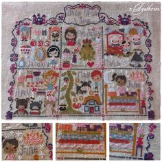The Frosted Pumpkin Stitchery - Once Upon a Time Sampler - The Princess and the Pea