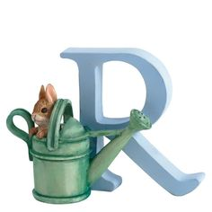 """Letter """"R"""" Peter Rabbit in Watering Can – Modo Creations"""