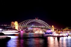 Sydney Harbour Bridge at Vivid Sydney 2013- JUST SAW THIS!!!! :)
