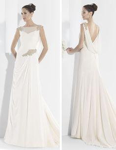 Vestidos de novia línea princesa con escote corazón y cuerpo ceñido.