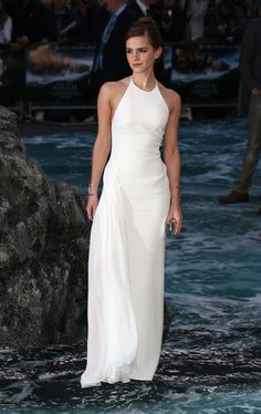 Emma Watson in Ralph Lauren at the London premiere for Noah on March 31, 2014.