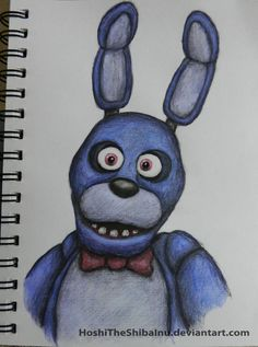Bonnie paint/pencil thing by HoshiTheShibaInu on DeviantArt<<Wow! nice!