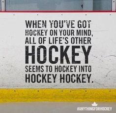 Hockey, hockey and #hockey.