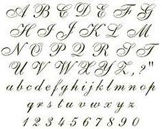 cursive alphabet - Google Search