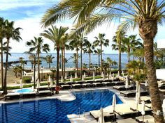 Amare Marbella - beach pool luxury spa hotel What does heaven look like to you?  Perhaps it's a cold glass of pale pink Côtes de Provence rosé whilst sitting on a beach with your toes in the sand, waiting for a waiter to bring you a platter of fresh grilled seafood? Or maybe it's waking up to the sound of waves, followed by a shower with an ocean view and then tucking into a strong cup of coffee and freshly squeezed orange juice on the terrace with a copy of the morning newspaper...