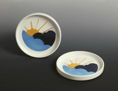 Gianni Arnaudo, Assiette (plate, creuse, soucoupe) 1972