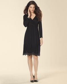 Soma Lace Hem Wrap Dress