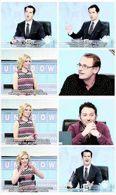 8 out of 10 cats does countdown, Sean Lock, Jimmy Carr, Jon Richardson, Rachel Riley British Humor, British Comedy, Comedy Tv, Comedy Show, Stupid Funny, Hilarious, Funny Stuff, Jon Richardson, 8 Out Of 10 Cats