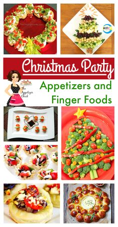 Your guests will ooh and aah about these Christmas party appetizers. They taste as good as they look and are sure to brighten up holiday festivities. Christmas Dinner Menu, Christmas Party Food, Noel Christmas, Office Christmas, Christmas Apps, Christmas Entertaining, Christmas Sweets, Christmas Baking, Finger Food Appetizers