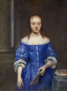 Portrait of a Woman in a Blue Dress, Gonzales Coques, 1645