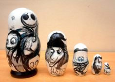 Russian Nesting Dolls The Nightmare before Christmas Jack Skellington. Introducing this 5 piece exquisite, fine wooden nesting doll, which has