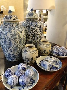 Blue chinoisorie...a classic that never goes out of style and goes with everything.
