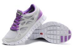 Damen Nike Free Run 2 Schuhe - grau, lila, weiB