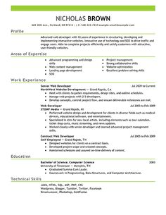 Resume Templates For 1 Year Experienced Experienced Resume
