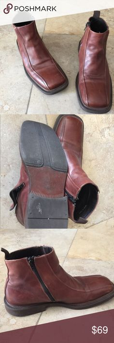 Aldo Leather mans boos size 41. Made in Italy, used but great condition, Leader boots. Brown color. Aldo Shoes Boots