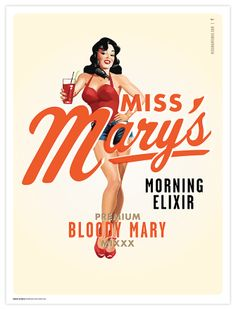 Miss Mary's Morning Elixir - brandonvanliere// My future city kitchen is gonna need this print!