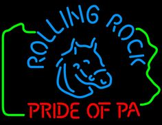 Rolling Rock Pride Of Pa Neon Beer Sign, Rolling Rock Neon Beer Signs & Lights | Neon Beer Signs & Lights. Makes a great gift. High impact, eye catching, real glass tube neon sign. In stock. Ships in 5 days or less. Brand New Indoor Neon Sign. Neon Tube thickness is 9MM. All Neon Signs have 1 year warranty and 0% breakage guarantee.