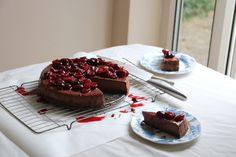 Chocolate Hazelnut Cheesecake with Cherry Compote | Add More Butter