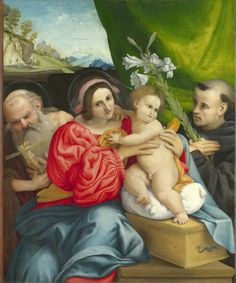 Lorenzo Lotto - The Virgin and child with Saints (1522) | by petrus.agricola