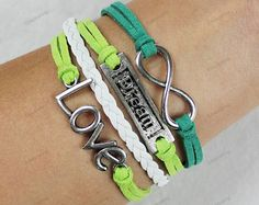 love infinite bracelets personalized by lifesunshine on Etsy, $7.99