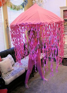 Jellyfish - this is meant to be a Halloween costume, but I think it would be a great decoration for an under-the-sea themed party!
