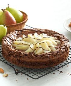 Brownie com peras