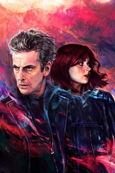 "ingoosenok: "" Cover artwork done for Doctor Who (The Twelfth Doctor: Year Two issue #1 by Titan Comics) featuring the Doctor and Clara by Alice X. Zhang """