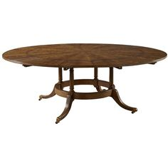 EJ Victor 9200 20 60 Round Dining Table With Six Perimeter Leaves Liked On