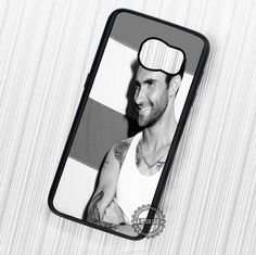 Adam Levine Black White Pose Maroon 5 - Samsung Galaxy S7 S6 S5 Note 7 Cases & Covers