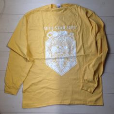 """SETE STAR SEPT """"Live In Baltimore 2011"""" Yellow long sleeve - Size: XL 