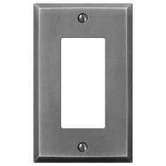 Manhattan Gunmetal Cast - 1 Rocker Wallplate
