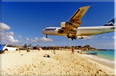 Be doing this in a month....  Plane landing in St Marin