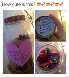 Cute idea have everyone at the shower fill out a date for each color and add it to the jar! Or even have this set up at the wedding guest book.