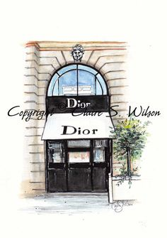 Dior  Art Print by claireswilson on Etsy
