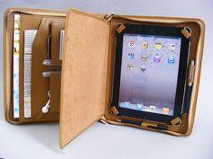 iPad Air 2 Leather Portfolio Case with the Writing Pad for Apple iPad  Pro 9.7 in Khaki Full Grain L