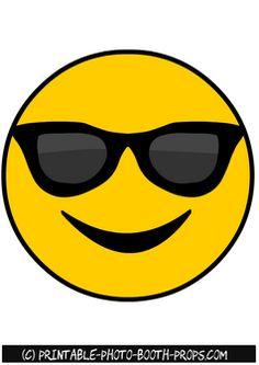 Free Printable Cool Emoji Photo Booth Prop
