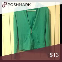 Teal hooded jacket Soft cloth hooded jacket, perfect for those slightly chilly days. Gently worn. Papaya Jackets & Coats