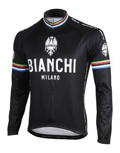 Bianchi Leggenda Long Sleeve Cycling Jersey, Cycling Jerseys