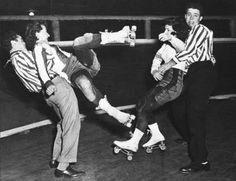 Don't mess with these hot mamas: Vintage photos of badass Roller Derby Girls   Dangerous Minds