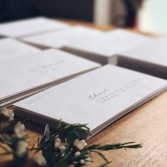 Addressing envelopes with modern calligraphy