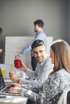 Young Business People Working. by dijanato | Stocksy United