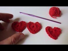 Cómo hacer un CORAZÓN Mini a Crochet - Paso a Paso - YouTube
