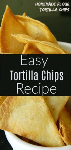 How to Make Baked Tortilla Chips Recipe! – Homemade Tortilla chips… How to Make Baked Tortilla Chips Recipe! – Homemade Tortilla chips in as little as 10 minutes! Healthy Tortilla Chips, Easy Tortilla Recipe, Flour Tortilla Chips, Recipes With Flour Tortillas, Homemade Flour Tortillas, Homemade Tortilla Chips, Homemade Chips, Tortilla Recipes, Homemade Recipe